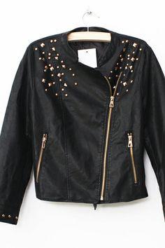 Black Stud Boyfriend Jacket