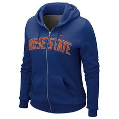 Nike Boise State Broncos Ladies Royal Blue University Classic Full Zip Hoodie Sweatshirt