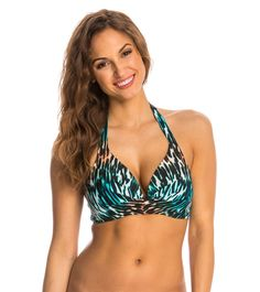 23ee2ab976 Beach Diva Swimwear Wild Inhibitions Push Up Molded Bra Bikini Top at  SwimOutlet.com