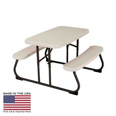 Lifetime Products Kids Folding Picnic Table - Almond