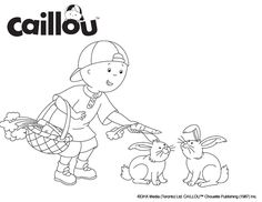 Caillou Coloring Sheet – Bunny Rabbit Fun!