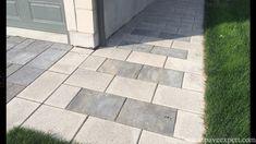 Bordures et trottoirs - Pavé Expert Patrick Marchand Front Entrances, Tile Floor, Sidewalk, Entrance Ideas, Patio, Flooring, Landscape, Outdoor Decor, Home Decor