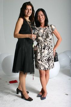 Tina Psoinos of Paris K Design and Kelly Liao of OLI Offices at IIDA NY Chapter - photo by Adrian Clarke