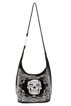 Sugar Skull Bandana Hobo Bag - oh love love love I want a bag like this so much