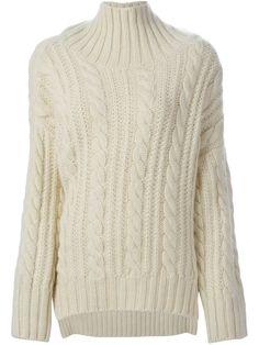 Viktor & Rolf Cable Knit Turtleneck Sweater, $1,672; farfetch.com   - ELLE.com