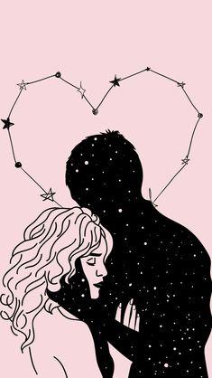 Wallpaper / lockscreen / amor / universo / estrelas