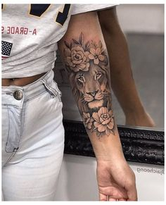 Forarm Tattoos, Girl Arm Tattoos, Leo Tattoos, Girls With Sleeve Tattoos, Dainty Tattoos, Dope Tattoos, Feminine Tattoos, Pretty Tattoos, Hand Tattoos