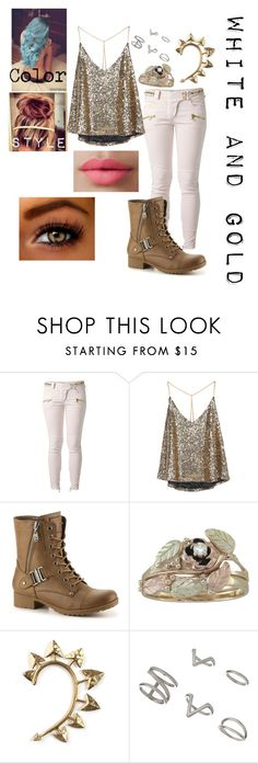 """White and Gold"" by kayladallas7 on Polyvore featuring Balmain, Rachel Entwistle, Miss Selfridge and LORAC"