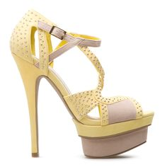 This shoe is so pretty in yellow, but you need to see it in the hot pink and red option!!