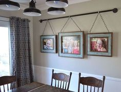 This family came up with a unique way to hang their photo display ...