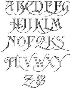 Caligrafa abecedarios