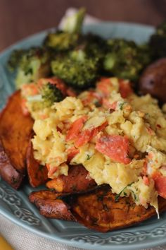 #paleo PaleOMG Dill Smoked Salmon and Red Pepper Scramble