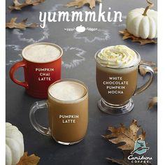 yummmkin #Caribou #Coffee #CaribouCoffee #New #Pumpkin #hot #drinks #latte #chai-latte #Kuwait #UAE #Turkey #Lebanon #Oman #Bahrain #Qatar #Jordan #KSA #enjoy #thursday #weekend #have #a #lovely #day #Caribous
