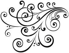 scroll stencil - Google Search
