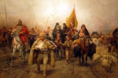 Paja Jovanovic (1859-1957) was a Serbian Realist painter.  Serbian Migrations