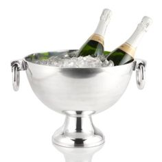 Oxford Serving Bowl from Z Gallerie. We need two of these, one for each wine tray. We'll start the evening with Champagne for 12 served on ice. After we transition by using these for the whites for dinner and dessert wines for later!