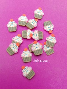 "fettine fimo ""cupcake tuttifrutti"", by Mila Bijoux, 0,05 € su…"