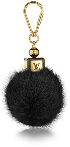 Louis Vuitton Black Fluffy Bag Charm FW-2015-16 #LVaccesories www.louisvuitton.com
