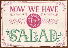 This one is so .. fonty! Now we have the salad - Postkarten - Grafik Werkstatt Bielefeld