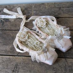 Muted pink ballet pointe shoes shabby cottage by AnitaSperoDesign