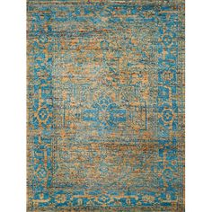 Keep high-traffic areas like your mudroom or kitchen looking sharp with this versatile rug, showcasing a distressed Persian motif for timeless style with ...