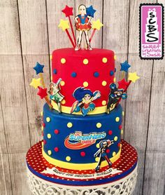 DC Superhero Girls Birthday Cake Addis 9th BDAY Pinterest