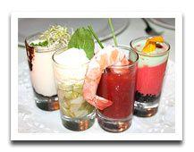mozzarella in a shot glass appetizer - recipe - smart kitchen