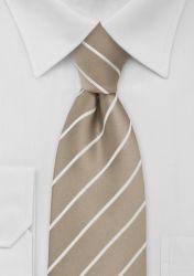 Krawatte Streifenmuster beige günstig kaufen