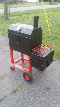 TSI -24 reverse flow smoker #topshot #bbq #smoker Custom Smokers, Bbq Diy, Cookers, Welding Projects, Stoves, Bbq Grill, Grills, Smoking, Flow