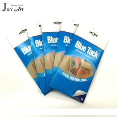 Repeated Use Power Tack with 75g a bag clearning and office use traceless frame Without Nail Viscose Glue Blu. Tack  JY-001