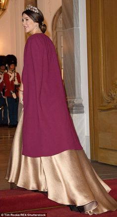 Beautiful: She turned to reveal the train of her dress, that appeared to feature a black t...