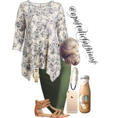 Apostolic Fashions #1834 by apostolicfashions on Polyvore featuring moda, Cool Melon, maurices, Michael Kors, Forever 21 and plus size clothing