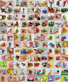 A bunch of tiny knitted things. Lawn gnome takes the cake fo sho.                                          http://blog.craftzine.com/archive/2011/07/two_years_of_tiny_knitting_an.html