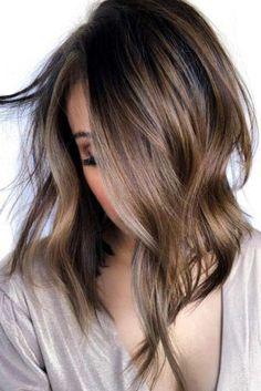 cute short hairstyles Long Bob Balayage, Balayage Hair, Medium Hair Styles, Curly Hair Styles, Lob Styling, Non Blondes, Ombré Hair, Hair Updo, Long Bob Hairstyles