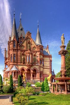 Schloss Drachenburg in Königswinter, a town near Bonn, Germany. I can't find the proper words to describe the awesomeness of this castle and of this photograph! It's like it jumped straight out of the pages of my childhood fairy tales!!