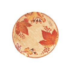 Harvest Canapé Plate Serving Plates & Platters ($19) ❤ liked on Polyvore featuring home, kitchen & dining, serveware, colored dinner plates, thanksgiving serveware, fall dinner plates, appetizer dish and leaf plates