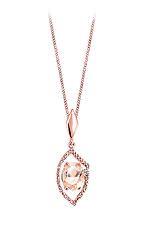 10k gold morganite and diamond necklace pendant. .03ct Canadian diamond Forever Ice Canadian Diamond
