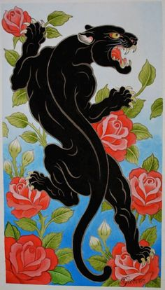Panther Painting by Chris Garver