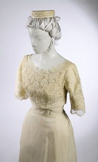 Similar color and fabric as Jean's - cream silk satin with lace trim, beading  http://media-cache-ak1.pinimg.com/192x/d0/bc/41/d0bc4125707b604ab41be6288d717bb7.jpg