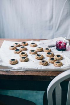 Always With Butter: boysenberry jam thumbprints