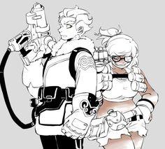 Overwatch Junkrat and Mei