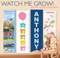 Canvas Growth Charts from Petite Lemon