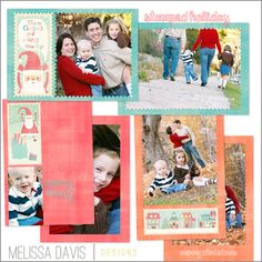 NEW 2012 Stamped Holiday template set from Melissa Davis Designs!