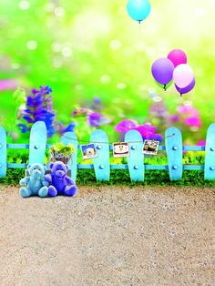 Bokeh Backdrops Children Photography Background Colorful Balloons S-1877