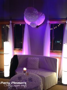 Purple uplights on wall at sweetheart table lounge  #CincinnatiWedding #PartyPleasers #Uplights Voice Of America, Sweetheart Table, The Voice, Lounge, Purple, Wall, Airport Lounge, Drawing Rooms, Lounges