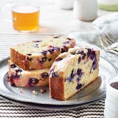 Blueberry-Lemon Ricotta Pound Cake - EatingWell.com Use GF flour