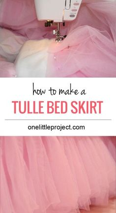 to make a tulle bedskirt How to make a tulle bedskirt tutorial. Step by step instructions for a DIY tulle bed skirt.How to make a tulle bedskirt tutorial. Step by step instructions for a DIY tulle bed skirt. Tulle Crib Skirts, Tulle Bedskirt, Tulle Table Skirt, Tulle Fabric, Bed Skirts, Tutu Crib Skirt, Tulle Canopy, Bed Canopies, Sewing Patterns Free