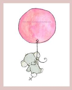 Just found artwork for the nursery I do not have. These elephant prints are ADORABLE!