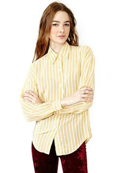 Seeing Stripes Silk Blouse