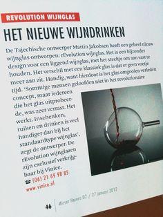 VINICE | rEvolution wijnglas | Design producten van Martin Jakobsen - rEvolution wijnglas in Misset Horeca